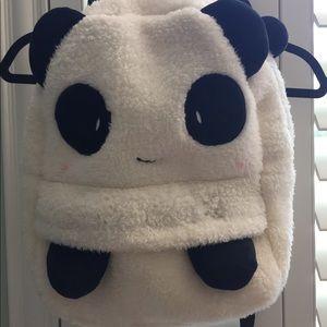 Other - Cute & soft fuzzy plush kids panda backpack